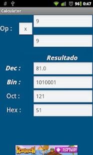 Calcubin - Binary calculator- screenshot thumbnail