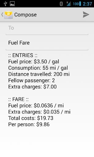 【免費交通運輸App】Fuel Fare-APP點子