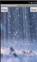 Screenshot of Rain Relaxing Sounds