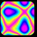 Psychedelic camera icon