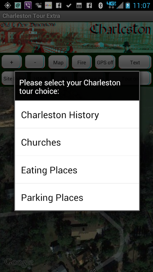 Charleston Tour Extra (3D+GPS)- screenshot