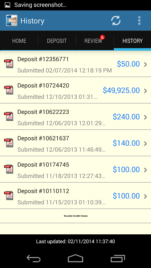 DeposZip Mobile - screenshot