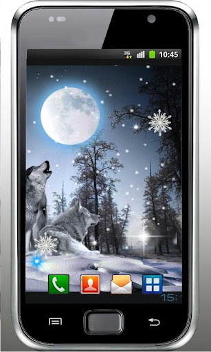 Wolves Winter Night LWP