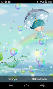 Soap Bubbles Live Wallpaper screenshot