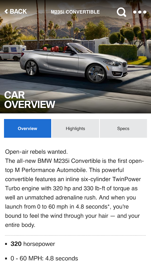 BMW Genius App- screenshot
