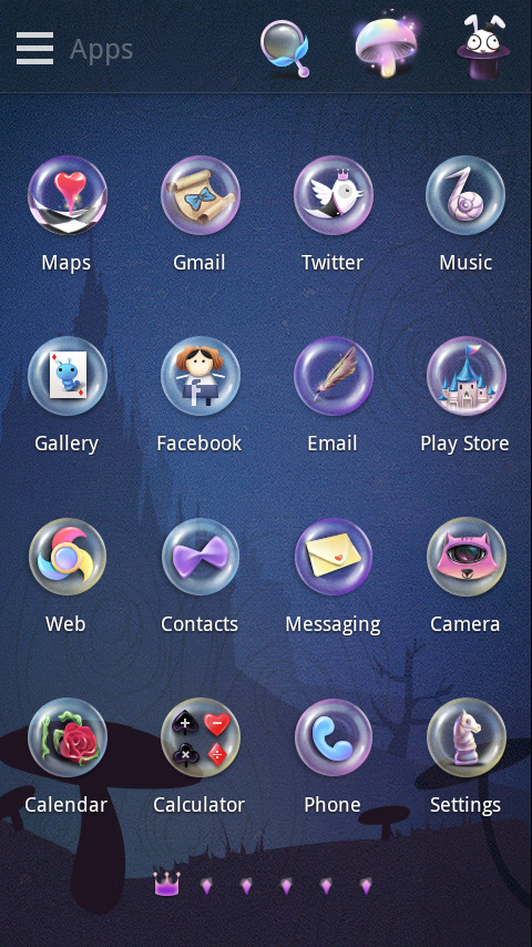 (FREE)Alice GO Launcher Theme - screenshot