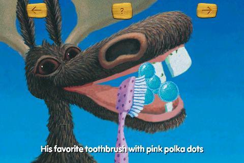 Moose brushing his teeth- screenshot