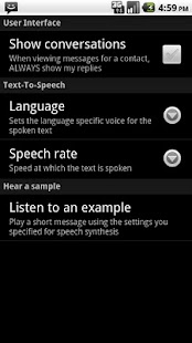 SMS Speak Screenshot 4