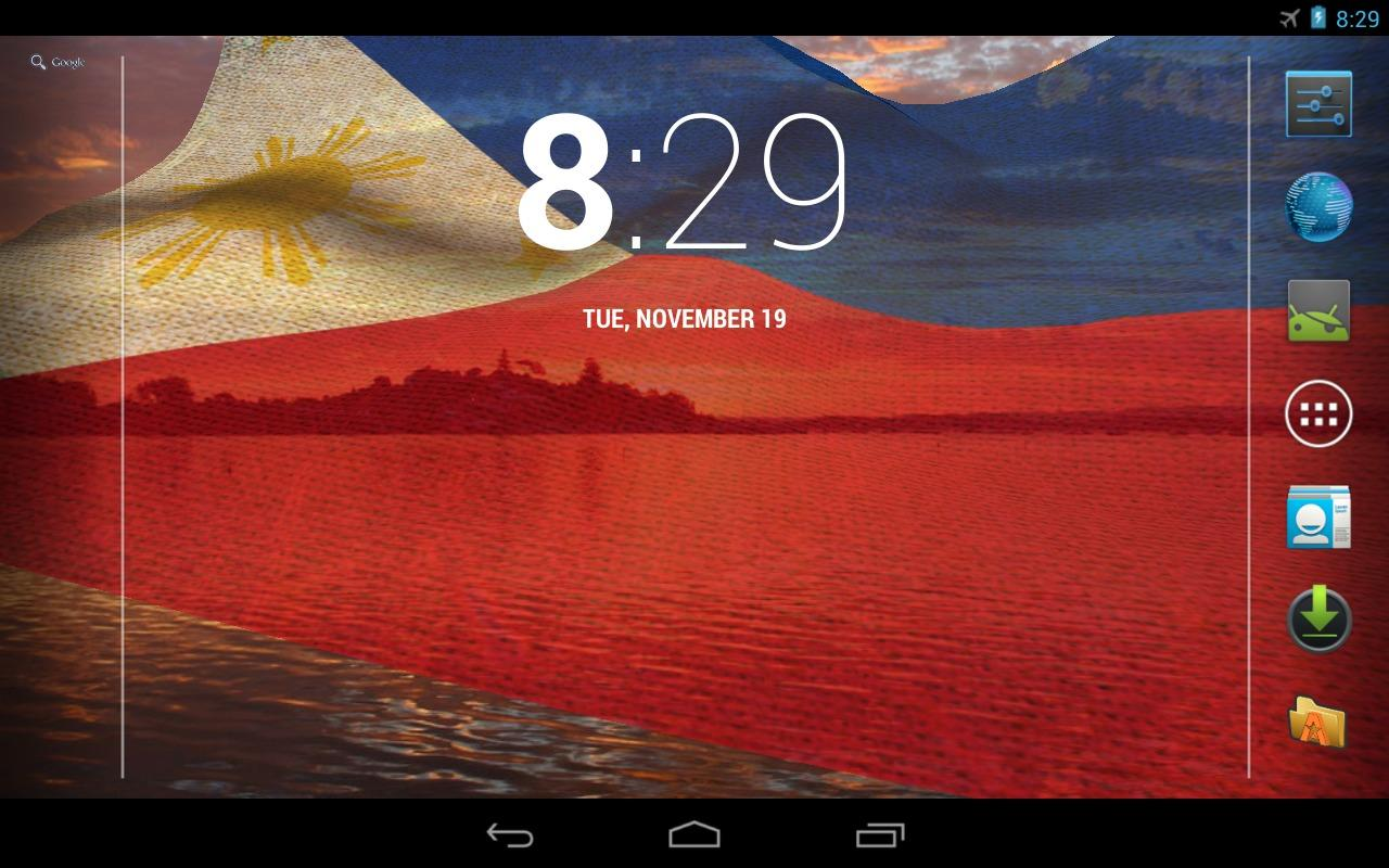 3D Philippines Flag LWP - screenshot