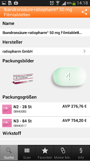 【免費醫療App】ratiopharm Arzneimittel App-APP點子