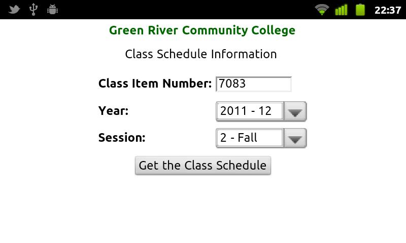 GRCC Student App - screenshot