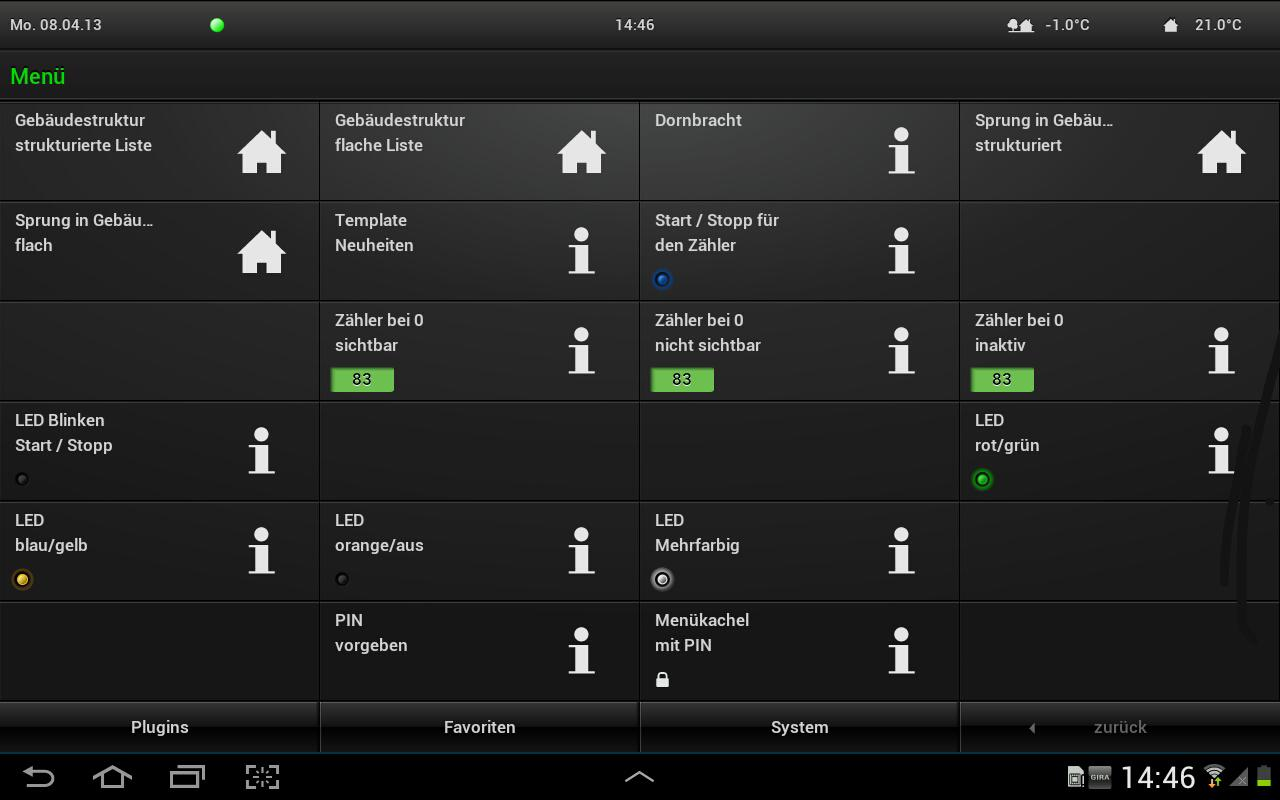 Gira HomeServer/FacilityServer - screenshot