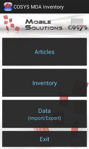 COSYS MDA Inventory