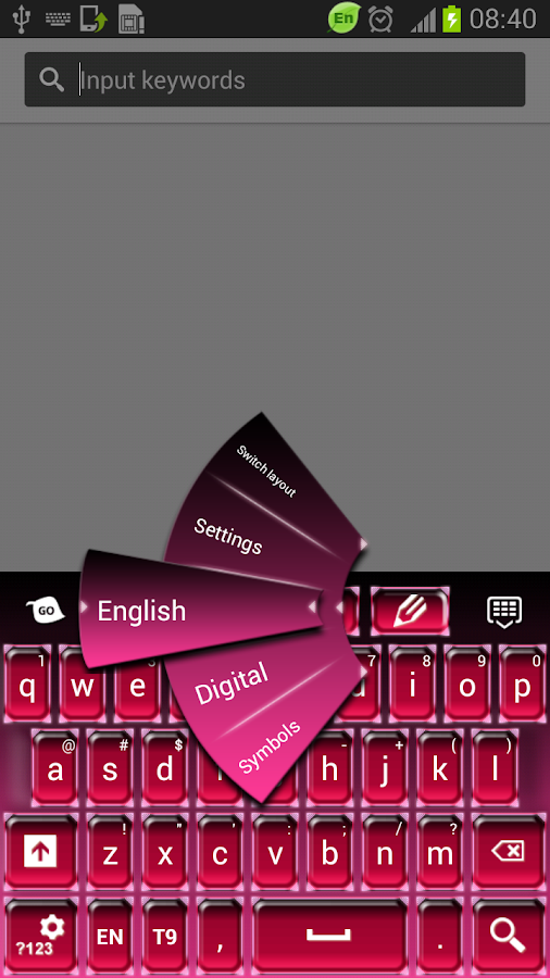 Pink Hot Keyboard - screenshot