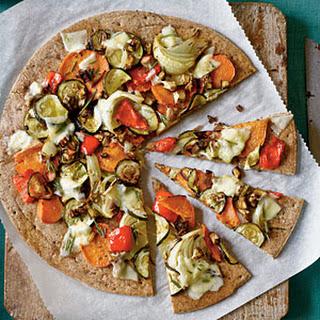Roasted Vegetable Pizza.