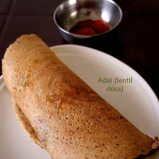 Lentil Dosa or Adai – South Indian healthy breakfast