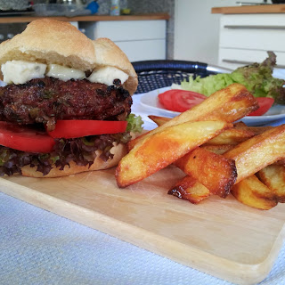 Caramelized Onion BBQ Burger.