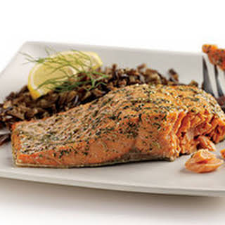 Salmon with Dill, Fennel and Lemon Rub.