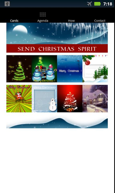 Christmascards - screenshot