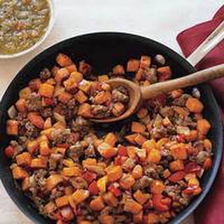 Sweet-Potato and Sausage Hash.