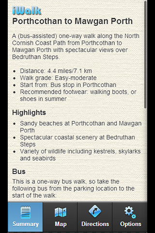 iWalk Porthcothan-Mawgan Porth - screenshot