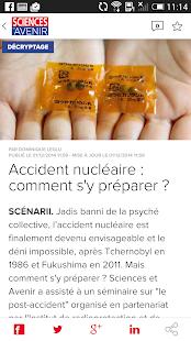 Sciences et Avenir - screenshot thumbnail