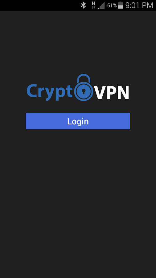 CryptoVPN OpenVPN- screenshot