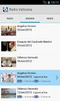 Screenshot of Radio Vaticana