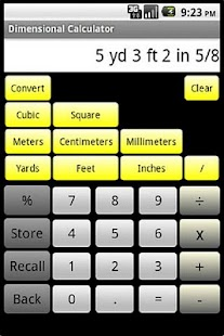 Dimensional Calculator - screenshot thumbnail
