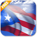 3D Puerto Rico Flag LWP icon
