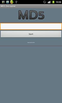 MD5 Decrypter - screenshot