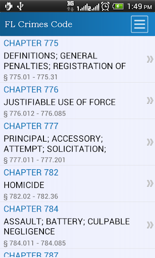FL Crimes Code