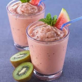 Watermelon Kiwi Smoothie.