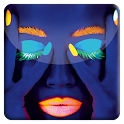 Neon Face HD Live Wallpaper icon
