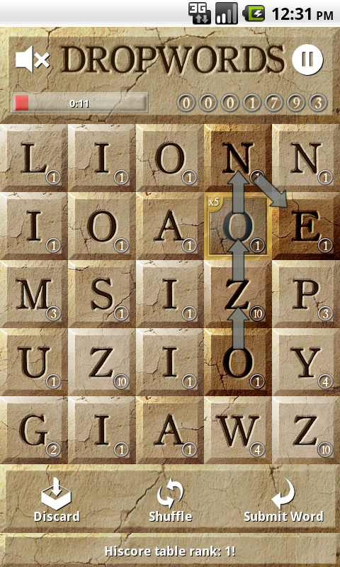Dropwords- screenshot