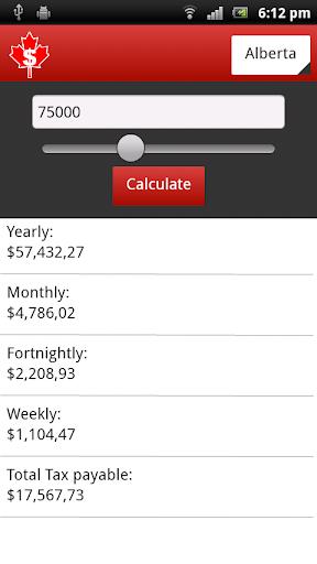 Canadian Salary Calculator