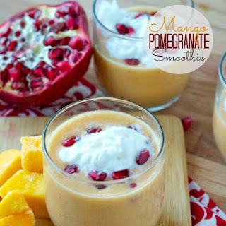 Mango Pomegranate Smoothie