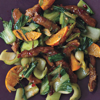 Pork Tenderloin Stir-Fry with Tangerines and Chili Sauce.
