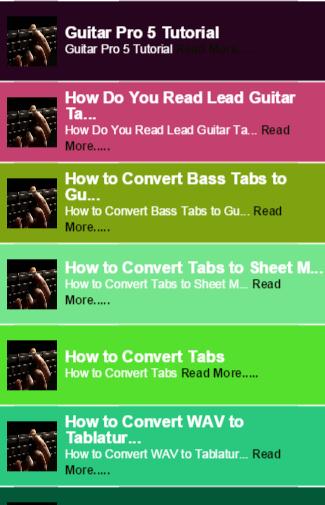 Guitar Tabs guide