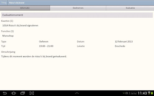 Evaluatie App - screenshot thumbnail