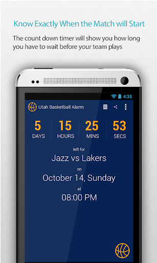 Utah Basketball Alarm