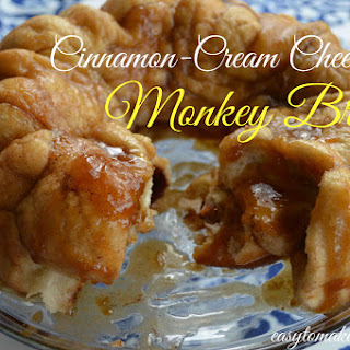 Cinnamon-Cream Cheesy Monkey Bread.