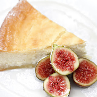 Lemon-ricotta Cheesecake With Fresh Figs And Lavender Syrup