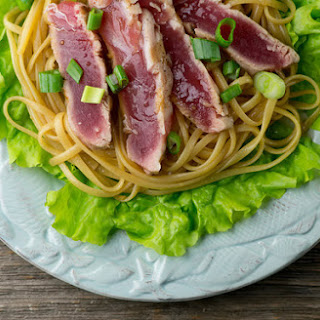 Grilled Tuna with Sesame Noodles.