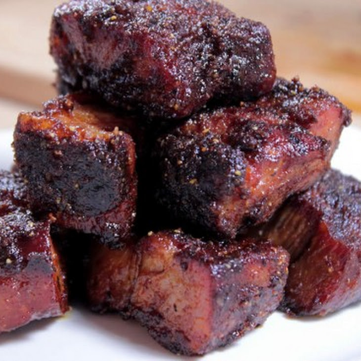 Pork Burnt Ends With Spicy Butter Injection