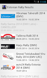 Estonian Rally Results- screenshot thumbnail