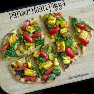 Paneer Naan Pizza.
