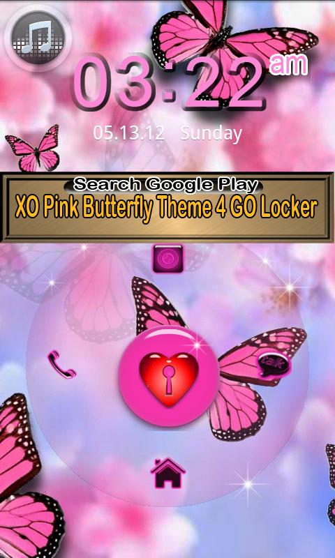 Pink Butterfly icon pack- screenshot