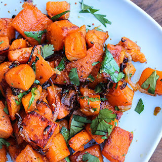 Sautéed Sweet Potatoes with Shallot, Chile and Lime