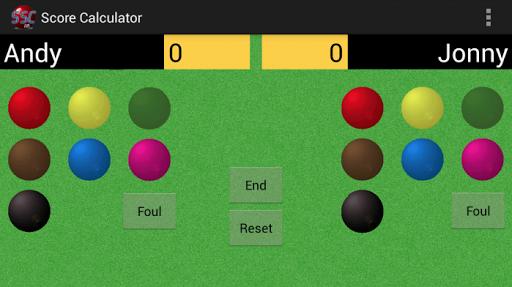 Snooker Score Calculator